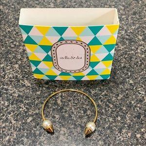 Stella & Dot pearl spike cuff bracelet